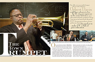"""The Town Trumpet"" My profile of trumpeter-educator Orbert Davis, which appeared in the University of Illinois-Chicago Alumni Magazine."